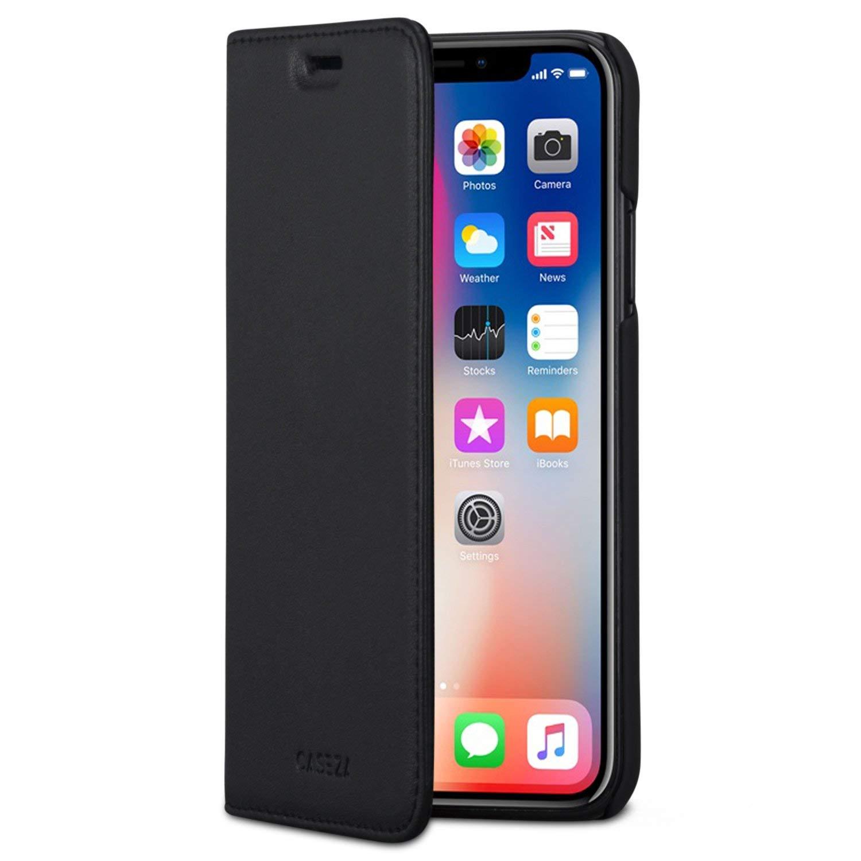 3950c612c65 Comprar CASEZA Funda iPhone XS/Case iPhone X Negro Tipo Libro Piel ...