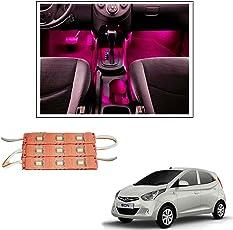 Vheelocityin 9 LED Custom Cuttable Car Pink Light for Interior/ Exterior For Hyundai Eon