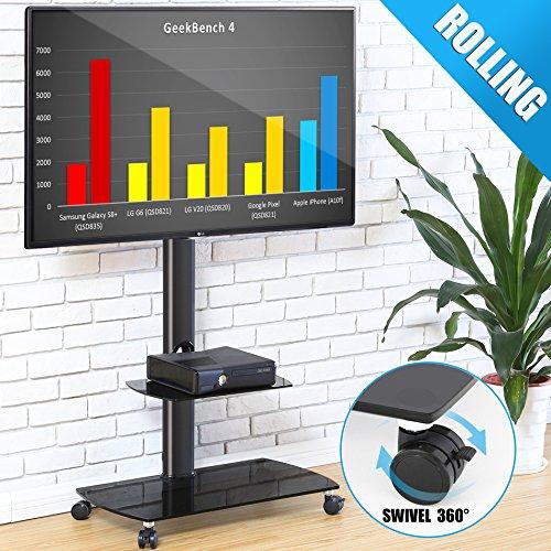FITUEYES Carrello porta TV con Ruote Supporto Mobile TV LCD LED Plasma da 32 a 65 pollici TT206503GB