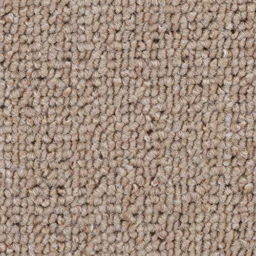*BODENMEISTER BM72051 300×500 Teppichboden Auslegware Meterware Schlinge beige 400 cm und 500 cm breit, verschiedene Längen, Variante: 3x5m*