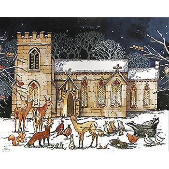 Church Advent Calendar with GLITTER