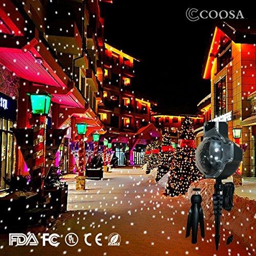 COOSA Lámpara de Proyector Navidad Copo de Nieve Luz LED con Mando a Distancia. Diseño Exclusivo de Lámpara de Nieve Iluminación Decorativa de Jardín Impermeable, para Halloween Navidad Año Nuevo (6)