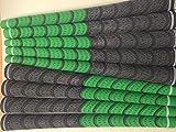 Multi Composé de Golf Grips. Blanc Rouge Bleu Vert Noir–Choisir votre couleur et quantité Green / black x 9