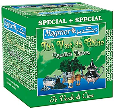 Thé Vert à la Marocaine - Magmer - Rituel de Préparation par Théière à la Marocaine - Boîte de 200 gr