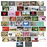 Ballonkarten / Flugkarten Hochzeitsspiel guter Wunsch fürs Brautpaar 50 Stück mit verschiedenen Motiven / Hochzeitsspiel extra leicht zum weit Fliegen