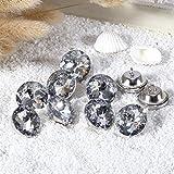 DB10 10 stück x 20mm Sofa Knöpfe, Klar Schimmernd Geschliffene Glaskristall Diamant Polster