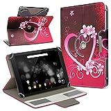 UC-Express Archos 101 Platinum 3G Tablet Hülle Tasche Schutzhülle Case Schutz Cover Drehbar, Farbe:Motiv 2