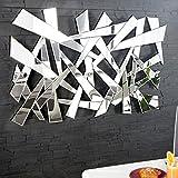 Großer Design Wandspiegel SPLIT 120 cm dreieckige Formen Facettenschliff