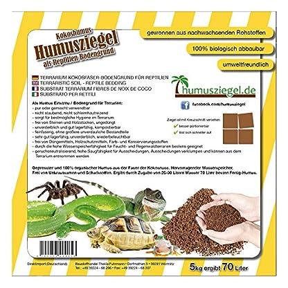 Humusziegel 1 block- 70 Coconut Litter for Reptiles, Terrarium Substrate, Terrarium Bedding, Ground Coconut, Tortoise… 2