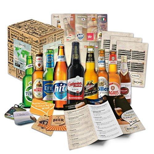 BOXILAND - Bier-Männergeschenk in Präsentverpackung (9x0,33l) / romantisches Valentinstag Geschenk für Freund Ihn Mann Männer