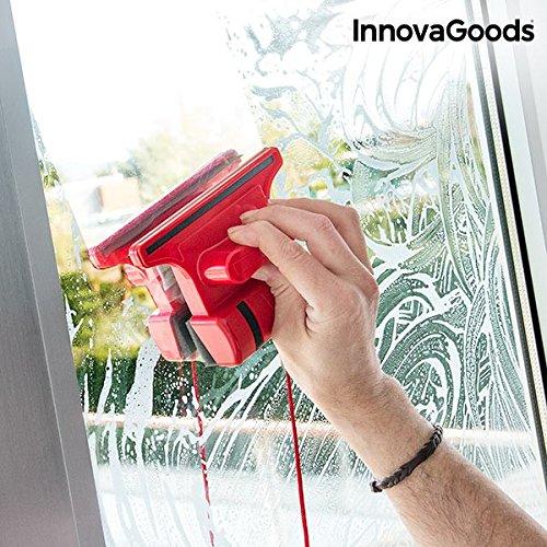 Foto de InnovaGoods Limpiacristales Magnético, Rojo, 5x15x11 cm