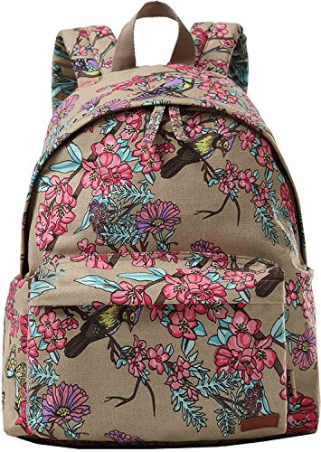 Mode Leinwand Rucksack Schule Rucksack für Damen oder Mädchen-Rot (Fitnessraum Schuhfach Mit)
