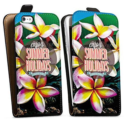 Apple iPhone X Silikon Hülle Case Schutzhülle Sommer Ferien Statement Downflip Tasche schwarz
