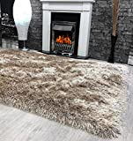 9cm Shaggy Mink 160x230cm Super Plush Soft Touch Shag Pile Modern Area Rug - 90mm Pile - Stain Resistant Quality Modern Rug - 100% Polyester - 3.2KG Per Metre Square - Lounge Rug