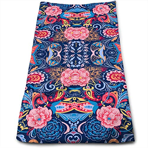 Jxrodekz Paisleys and Flowers (Blue) Cool Towel Beach Towel Instant Cool Ice Towel Gym Quick Dry Towel Microfibre Towel Cooling Sports Towel for Golf Swimming Yago Football Beach Garden Holiday