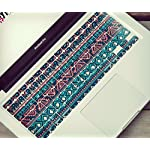 "typeDESIGNS Keyboard Sticker Skin Design ""AFRICAN ETHNIK"" QWERTZ PC / MAC TASTATUR AUFKLEBER SET auf deutsch, bunt, Muster, Farben, farbig- Laptop, Notebook - decal vinyl"