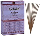 Goloka Saffron Incense Sticks Pack of 12...