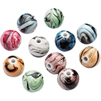 SUPVOX Perle Perline per bigiotteria in Resina per Gioielli Fai da Te 8mm 100 Pezzi