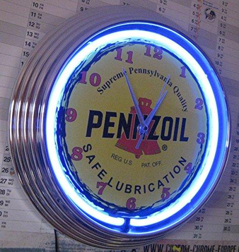 neon-clock-horloge-fluo-pennzoil-coffre-fort-lubrication-horloge-murale-lumineux-avec-bague-fluo-ble