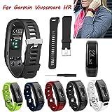 Garmin Vivosmart HR Silicagel-Ersatz-Band, Armband, verstellbares Sportband, 5Farben, Geschenk, Kinder, blau