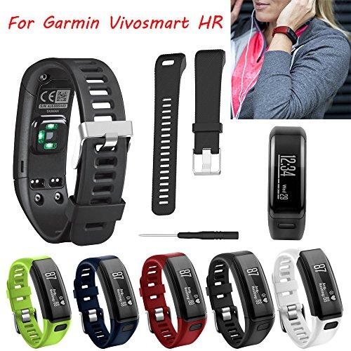 Garmin Vivosmart HR Silicagel-Ersatz-Band, Armband, verstellbares Sportband, 5Farben, Geschenk, Kinder, schwarz Kinder-armbanduhr-ersatz-band