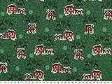 ab 1m: Deko-Weihnachtsstoff, Baumwolldruck, grün, 140cm