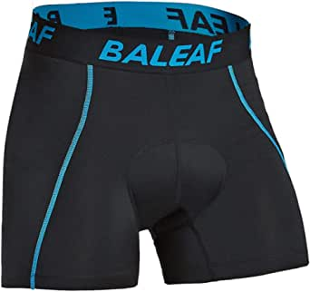 BALEAF Men's 3D Padded Cycling Underwear Shorts - Bike Undershorts Bicycle MTB Underpants - - S