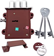 Ramson Dyna Queen 8 Levers 125 mm 3 Keys Double Chal Door Inter Lock With A Towerbolt ( 2 In One) Operated From Both Side Of The Door. (Silver)
