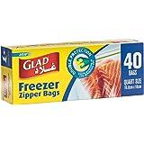 Glad Storage Zipper Freezer Bags 1 Quart - 40 Count