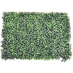 HEIRAO Panneaux artificiels d'écran de Haies, Mur végétal en Plastique de Feuille de Lierre Artificiel, décoration de Mur extérieur de Jardin à la Maison, 1 Paquet