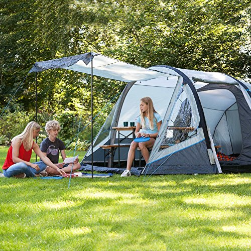 Skandika Outdoor Folldal 4 Air-Rise Zelt, Grau, 4 -