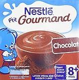 Nestlé Bébé P'tit Gourmand Chocolat - Laitage dès 8 mois - 4x100G - Lot de 6