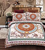 Imperial Rooms Stylish Bohemian Decor Duvet Covers Boho Bedding Quilt Cover Bed Cover Mandala bed sheets Duvet sets (Double/Aura) Include 1 duvet set and 2 pillow cases