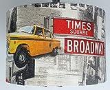 35,6cm New York Yellow Taxi Manhattan Freiheitsstatue Tisch Lampe