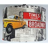 Image of 12 New York yellow taxi Manhattan Statue of Liberty CEILING lamp shade - Comparsion Tool