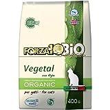 Forza10bio Crocchette Vegetali con Alghe per Gatti Adulti, Bio - 400 gr - [confezione da 1]
