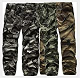 WSLCN Jogging Pantalon Militaire de Camouflage Pants de Sport d'Extérieur Taille Elastique avec Cordon de Serrage