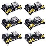 6 Stück Steckbrett Power Supply Module für Arduino Board Lötfreie Steckbrett, 3,3 V/ 5 V
