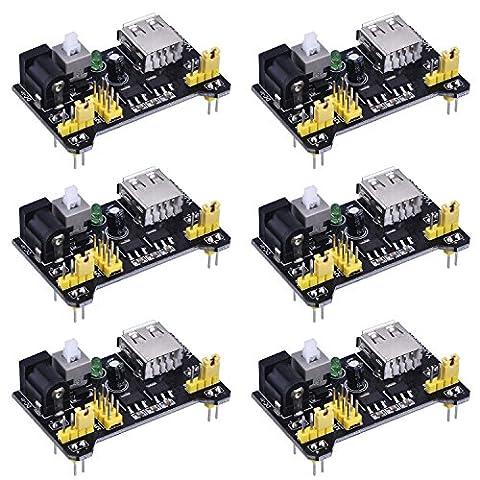 eBoot 6 Pack Breadboard Power Supply Module for Arduino Board