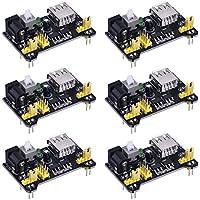 6 Piezas Módulos de Alimentación de Fuente de Breadboard para Arduino Board Solderless Breadboard, 3.3 V/ 5 V