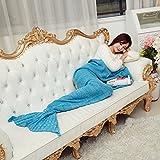 Meerjungfrau-Endstück-Fisch-Warme Handgemachte Gehäkelte Gestrickte Decke
