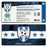 (20 x) Einladungskarten Geburtstag Fussball Kindergeburtstag Ticket Einladungen Blau