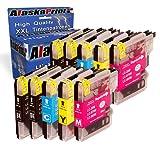 Premium 10er Set Druckerpatronen Kompatibel für Brother LC985BK LC985C LC985M LC985Y XL für Brother MFC-J265W DCP-J140W DCP-J315W DCP-J515W DCP-J125 MFC-J220 MFC-J410 DCP-J415W Patronen 10xLC-985-Brother