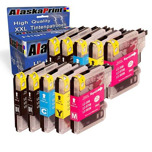 Premium 10er Set Druckerpatronen Kompatibel für Brother LC985BK LC985C LC985M LC985Y XL für...