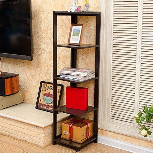 Guo Camera d'angolo Bookshelf angolo stand Soggiorno Scaffalature Fiore Rack ripiano angolare moderno (Bookshelf Stand)
