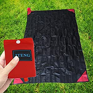 JTENG Pocket Mini Coperte, la tasca perfetta dimensione e impermeabile Coperta esterna per la corsa, picnic, un giorno libero sabbia alla spiaggia