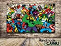 Marvel Comic Book Handmade Canvas Print Framed Art Ready To Hang