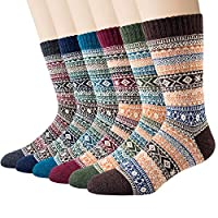 6 Pairs Mens Wool Socks, Thick Warm Thermal Socks for Winter