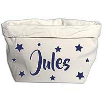 Panier de rangement à tissus, À personnaliser, Choississez le prénom de votre choix, Cadeau original à offrir