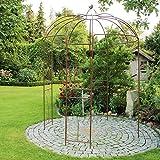 Rosenpavillon Metall 270 Höhe Rankhilfe Gartenpavillon Rankgitter Rosenbogen